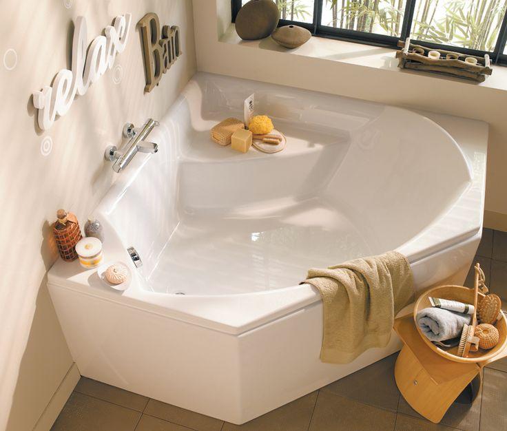 Baignoire d'angle en acrylique Concerto - La salle de bains Cedeo