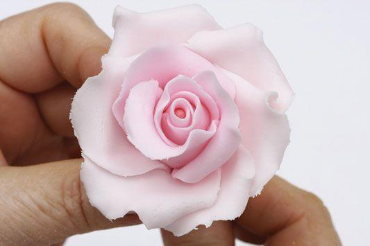 Rosas de biscuit - Portal de Artesanato - O melhor site de artesanato com passo a passo gratuito: Fimo Rose, Air Dry Clay, Flowers Trees Tutorials, Clay Beads, The Biscuits, Clay Flowers, Airdri Clay, Polymer Clay