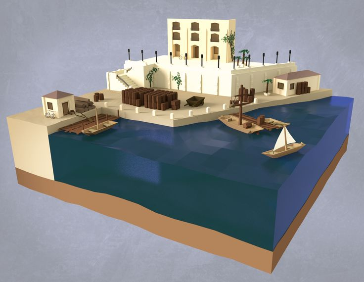 Medieval Port of Algier. My first try at lowpoly style, CC greatly apreciatet! More pics in comments - Imgur