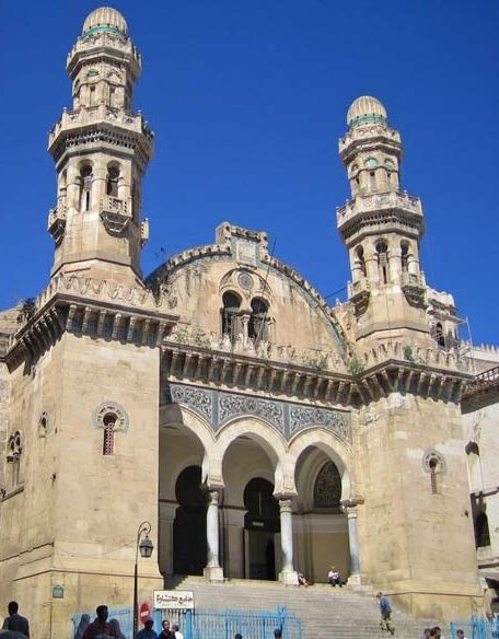 Ketchoa Mosque- Algiers, Algeria  Built in 1612, converted to a church in 1845 under French rule, known as the Saint Philippe Cathedral, reverted to a mosque in 1962.