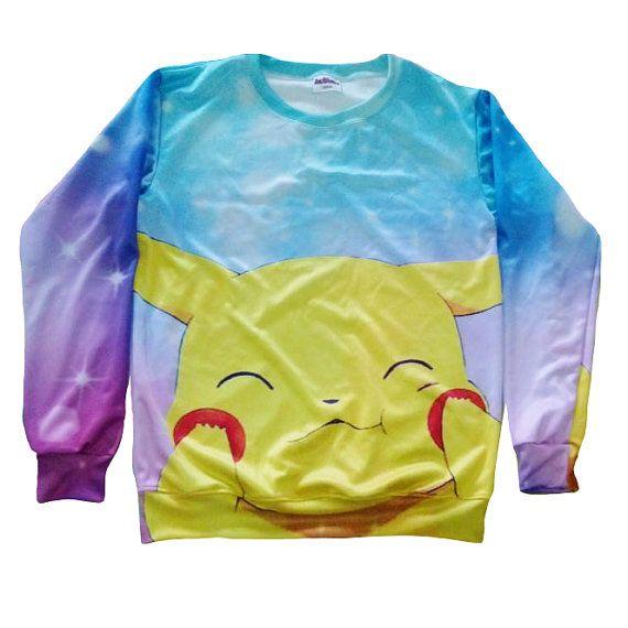 Pikachu Sweater by MegaShirts on Etsy