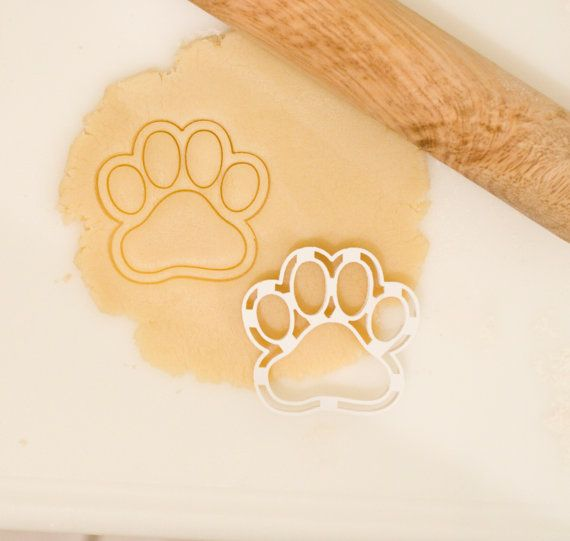 Dog Paw Cookie Cutter by HomePrint3D on Etsy