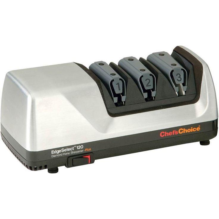 Chef's Choice - Diamond Hone EdgeSelect Electric Knife Sharpener - Brushed Metal, 120