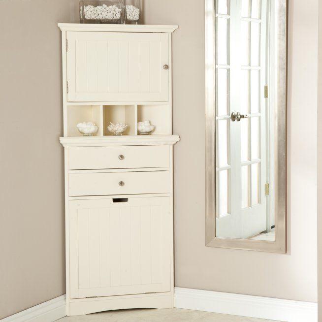Cirrus Corner Wall Cabinet Hamper Hayneedle Wall Cabinet Corner Wall Bathroom Corner Storage