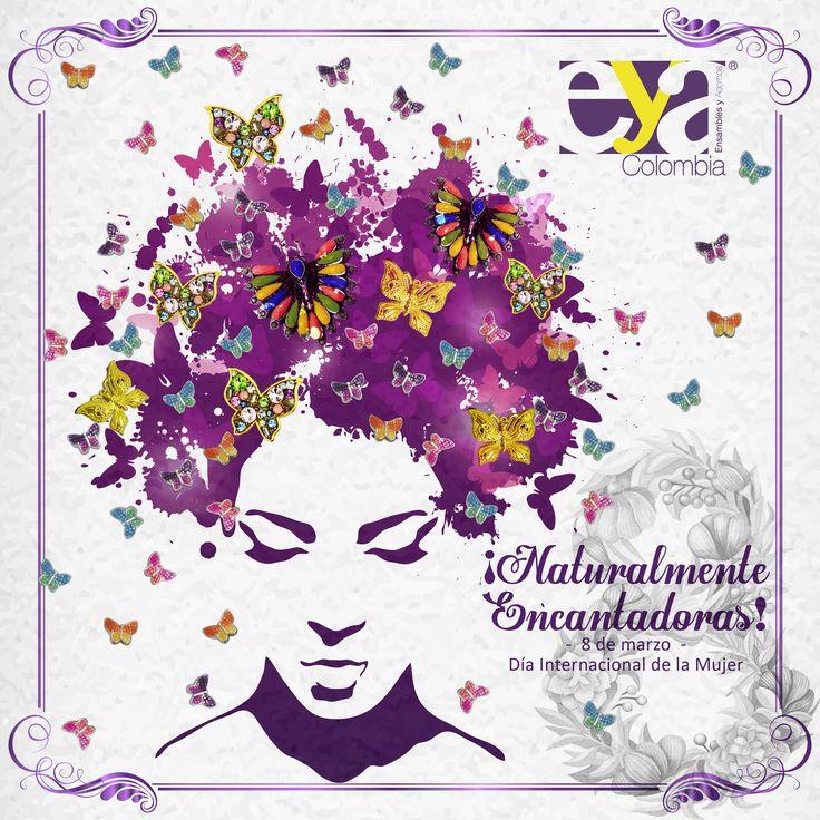 ¡Feliz día a todas las mujeres que llenan este mundo de sueños, amor, sabiduría y ternura! #8deMarzo #DíadelaMujer #FelizDíaMujeres #EnsamblesyAdornos