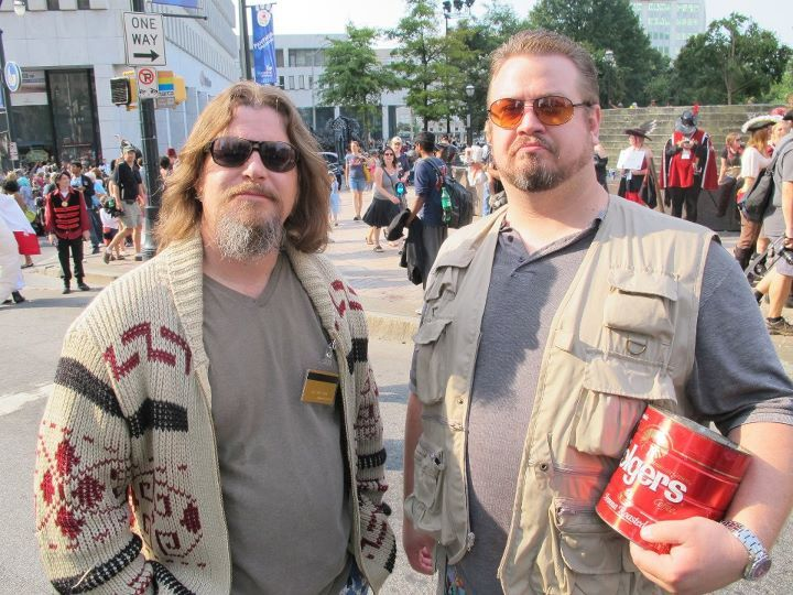 "The Best ""Big Lebowski"" #cosplay at DragonCon parade 2011 - Mac Baugher as Walter - Jeff Lester as The Dude"