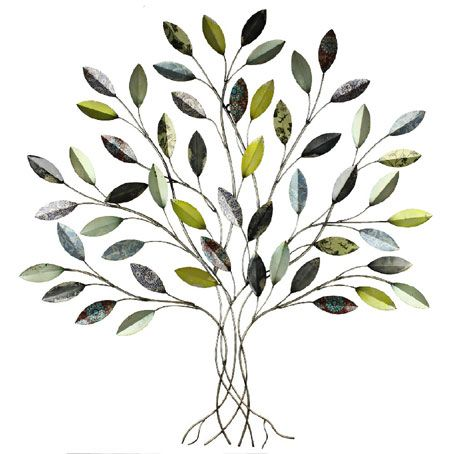 'LARGE SPRING LEAVES TREE' METAL WALL ART Size is H91cm x W84cm x D3cm. jazzitupinteriors.co.uk