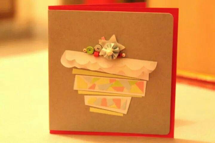 Pastel Collage Cupcake miniature birthday greeting template!