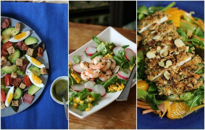 HONEYGOLIGHTLY: 3 Summer Salads  http://www.honeygolightly.com/2014/06/3-easy-summer-salad-recipes.html  #salad #recipe #dinner #lunch #glutenfree