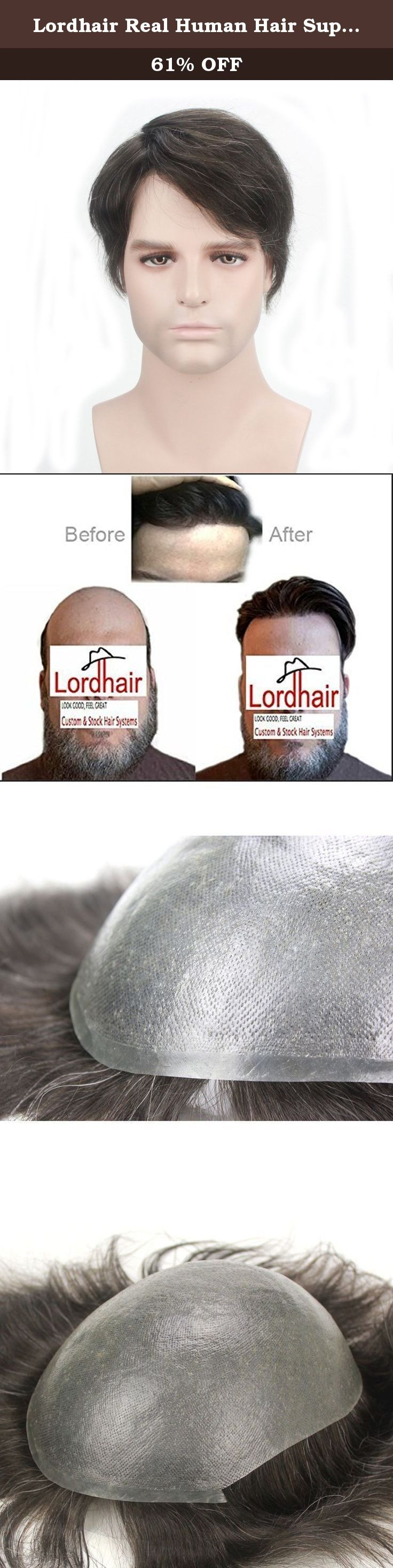 "Lordhair Real Human Hair Super Thin Skin Men's Toupee V-looped Hair Color 1B10#. Lordhair Real Human Hair Super Thin Skin Men's Toupee Thank you very much for shopping with Lordhair. Lordhair Wigs - Look good, feel great! FAQ: 1. Default Cap Size is 8""X10""Cap 2. The hair could be cut and styled according to your choice. 3.HAIR Type:human hair,(HUMAN HAIR will show white smoke while burning and will turn to ASH; Synthetic hair will show black smoke and will be a sticky ball after burning)..."