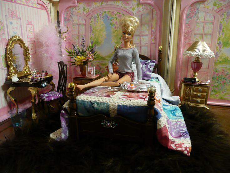 Ooak Barbie Bedroom Furniture Diorama 1 6 Scale Lot House