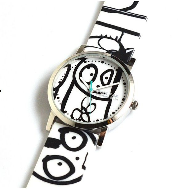 Poul Pava watch - white http://poulpavashop.com/watches/poul-pava-horloge-wit.html