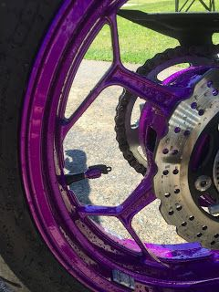 Purple Rims on Kawasaki Ninja 300
