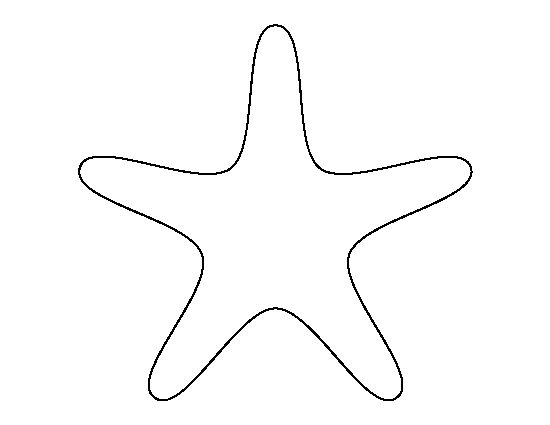 Starfish pattern. Use the printable outline for crafts, creating stencils, scrapbooking, and more. Free PDF template to download and print at http://patternuniverse.com/download/starfish-pattern/