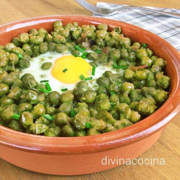 Con esta sencilla recetas de guisantes estofados mi abuela preparaba la menestra de verduras, judías verdes, alcachofas... y muchas otras preparaciones de verduras.