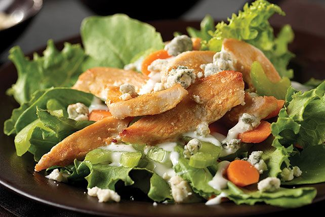 Get spicy with hot pepper sauce and blue cheese in Buffalo Chicken Salad! Our quick Buffalo Chicken Salad will remind you of a zesty chicken appetizer.