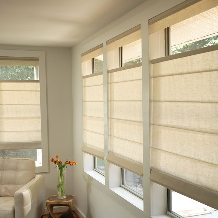 Roman Shades Blackout Linen Sheer More Window Treatments Living Room Living Room Windows Living Room Blinds
