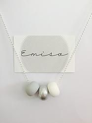 Silver Necklace // 3 Bead Combo - Emisa