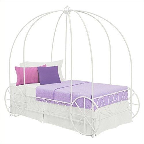 Create a princess wonderland in your kid's room with the unique DHP Metal Twin Carriage Bed. Its whimsical and scrolled lines create a warm, classic look that will easily coordinate with all different types of room décor. A crown on top of the frame adds to the charm and beauty of this en... more details available at https://furniture.bestselleroutlets.com/bedroom-furniture/beds-frames-bases/bed-frames/product-review-for-dhp-metal-carriage-bed-fairy-tale-bed-frame-shabby-c