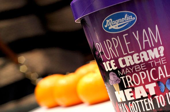 "Purple Yam or ""Ube"" Ice Cream from Magnolia Ice Cream. YUM! #MagnoliaIceCream @Ramar Foods."