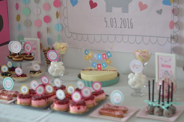 Jedzenie na Baby Shower Słodki stół #babyshower #babyshowerfood #babyshowerideas