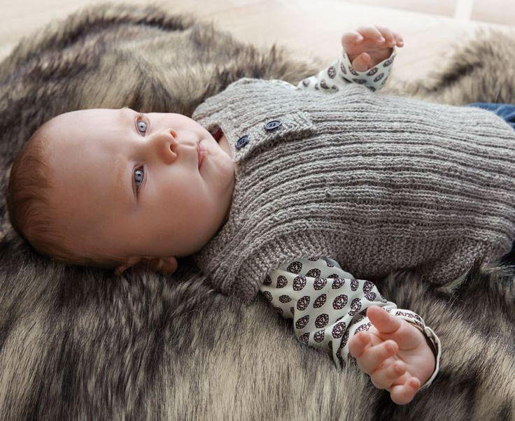 Garn baby wool grå lys melange - Stof & Stil