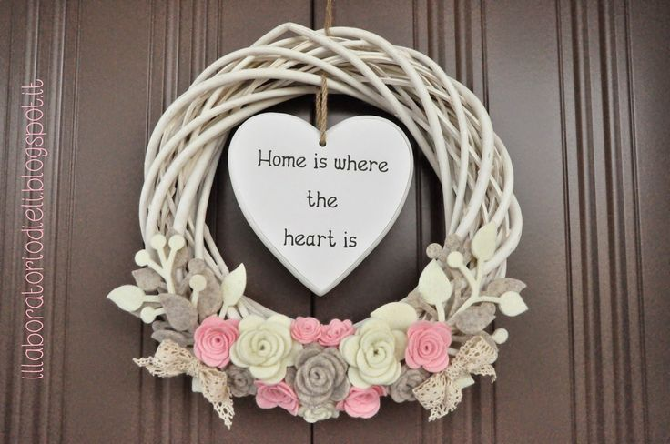 "Fuoriporta shabby ""home is where the heart is"""