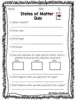 states of matter assessments assessment student and states of matter. Black Bedroom Furniture Sets. Home Design Ideas