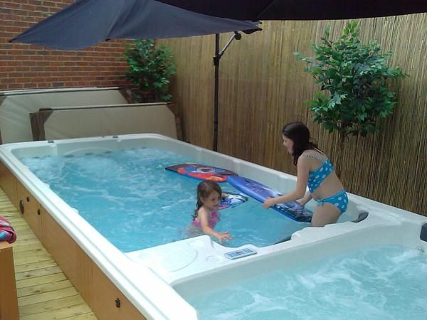 20 best ideas about swim spa prices on pinterest for Pool house with bathroom cost