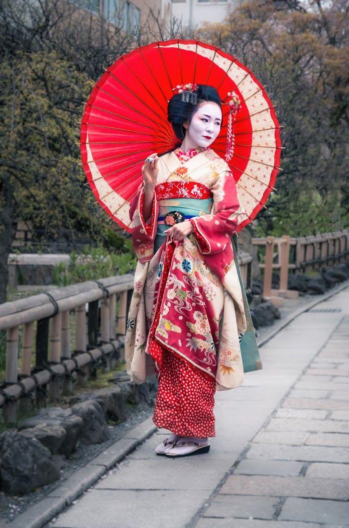 Beautiful Japanese geisha, Asia