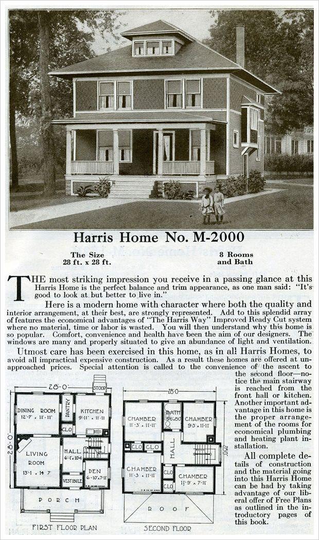 Four Sqaure House Plan Colonial Revival 1920 Harris Homes Square House Plans Four Square Homes House Plans