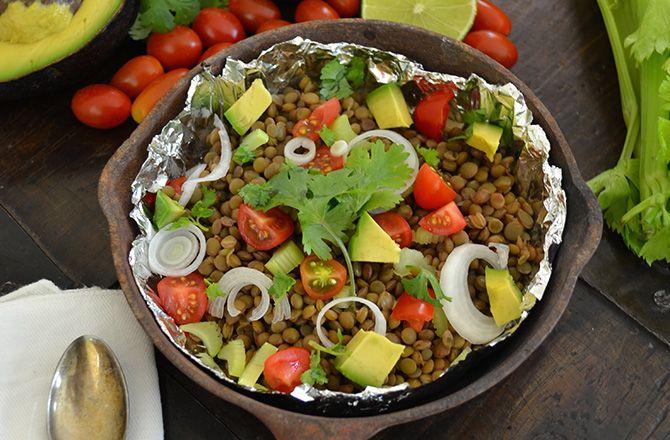 #insalata di #lenticchie di ventotene con avocado, lime e coriandolo #ricette #territoricoop