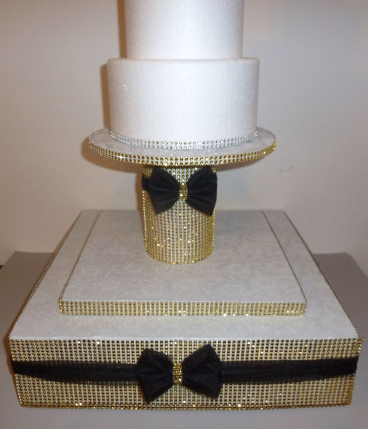 gatsby gold bling faux rhinestone wedding cake pop stand black tulle bow tier glam milestone birthday bridal shower bachelorette candy table by aprincesspractically on Etsy https://www.etsy.com/listing/194359506/gatsby-gold-bling-faux-rhinestone
