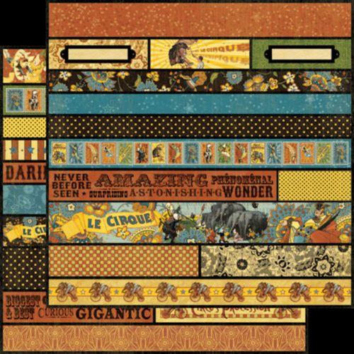 Graphic45 BORDERS-LE CIRQUE scrapbooking vintage circus