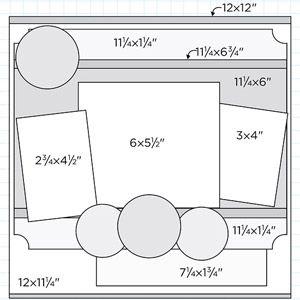 Scrapbook Page Sketch - 3 Photos