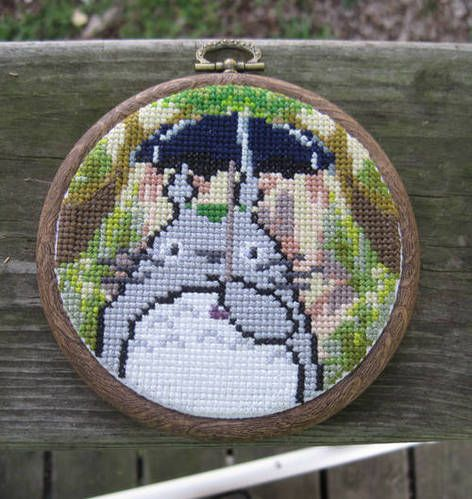 Totoro cross-stitch - NEEDLEWORK