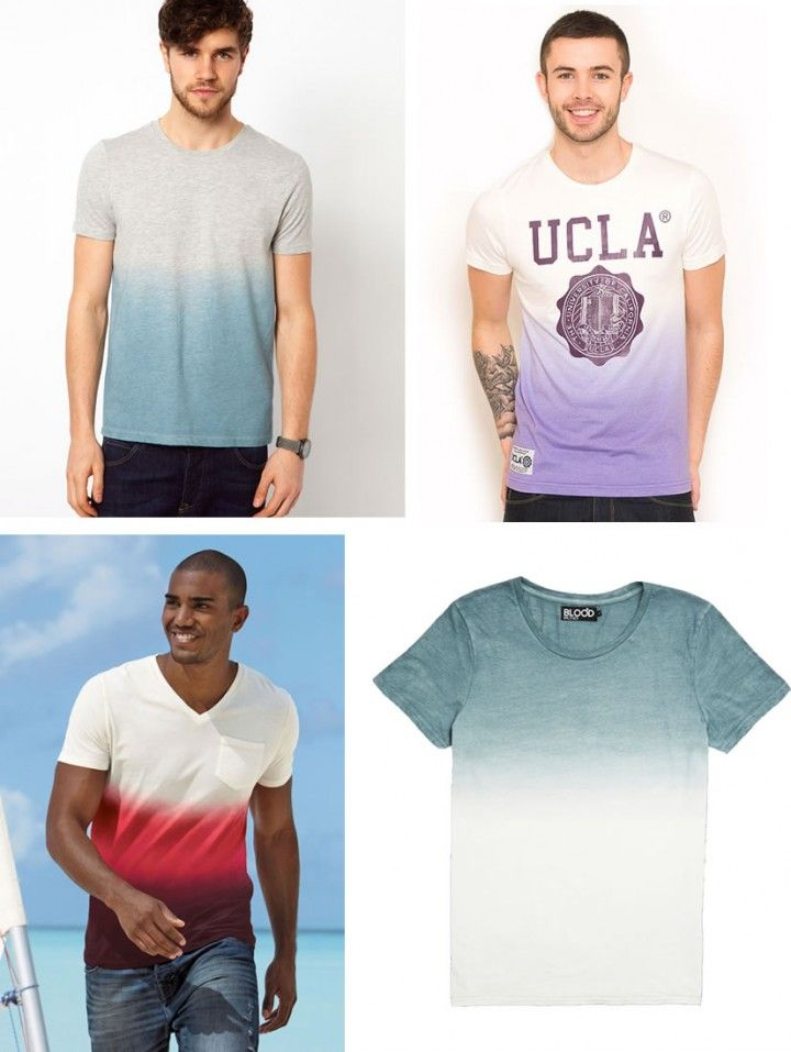 Fashion Trend: Dip Dye T-Shirts For Summer 2013 #ASOS #UCLA #BloodBrother #DipDye #MensFashion