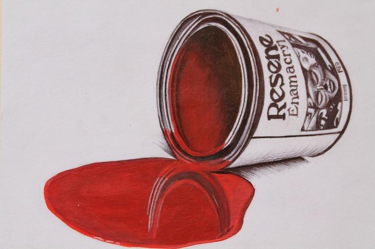 Logan Moffat, 15. Materials- acrylic paint and black pen