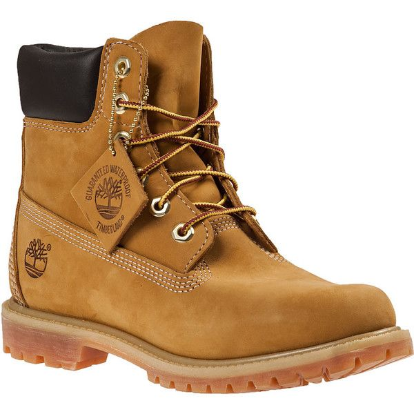 TIMBERLAND Classic Lace-Up Boot Wheat Leather found on Polyvore