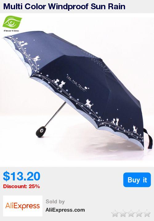 Multi Color Windproof Sun Rain Umbrella Women And Men Unisex Three Folding Automatic Umbrellas * Pub Date: 05:38 Apr 27 2017