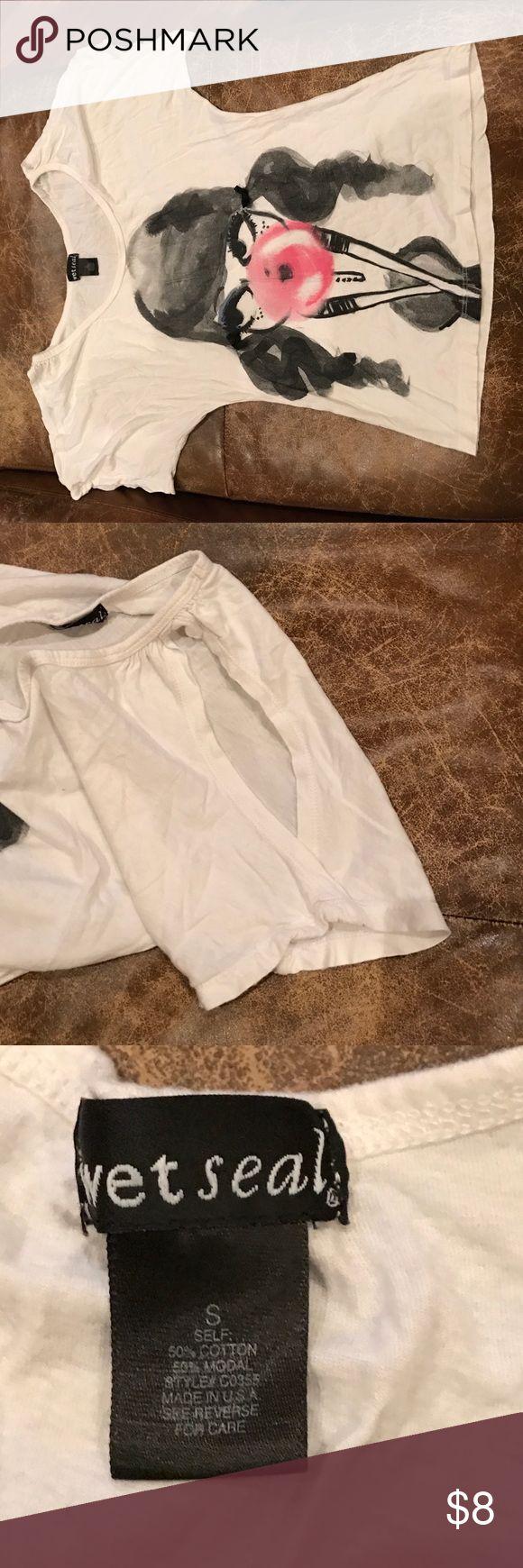 Bubble blowing girl tee Cute tee shirt Wet Seal Tops Tees - Short Sleeve