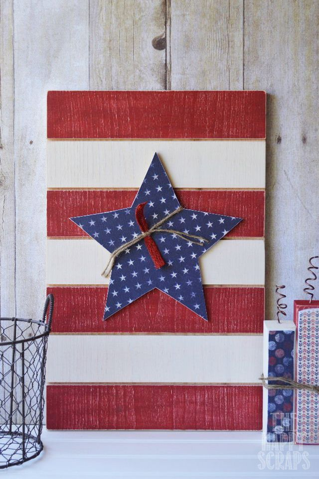 red white blue panel - The Wood Connection Blog