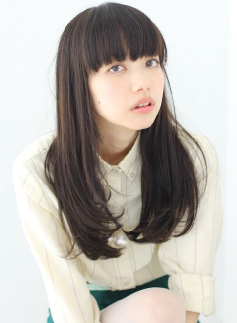 やっぱり人気の内巻ぱっつんロング 【Of HAIR GINZA】 http://beautynavi.woman.excite.co.jp/salon/27497?pint ≪ #longhair #longstyle #longhairstyle #hairstyle ・ロング・ヘアスタイル・髪型・髪形≫