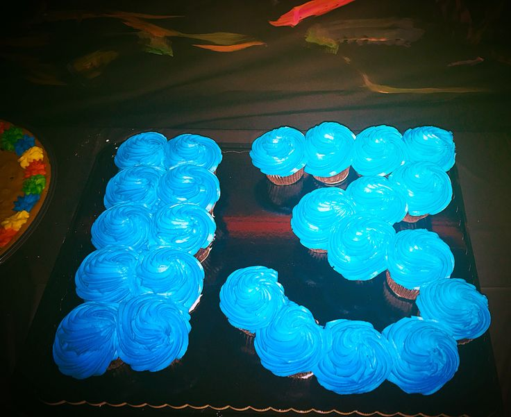 Glow in Dark Frosting Glow Birthday Party Cupcake Cake #Blacklight #Neon #Teen #13