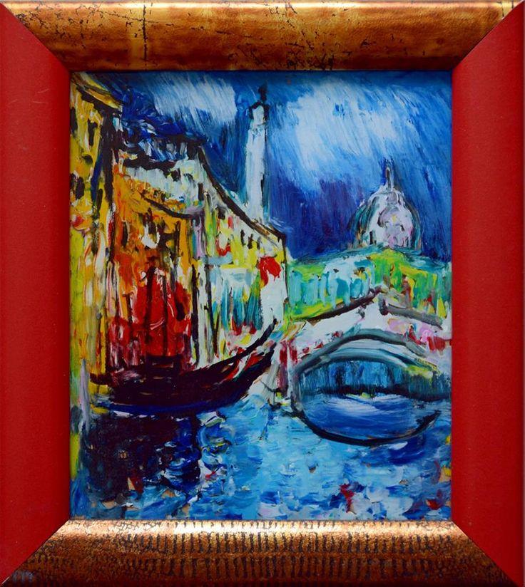 Венеция. Мост  стекло, м. 16х12 5 т.р.
