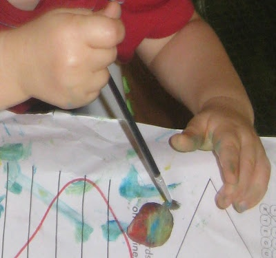 Rock Painting!  Great for preschoolers and toddlers!