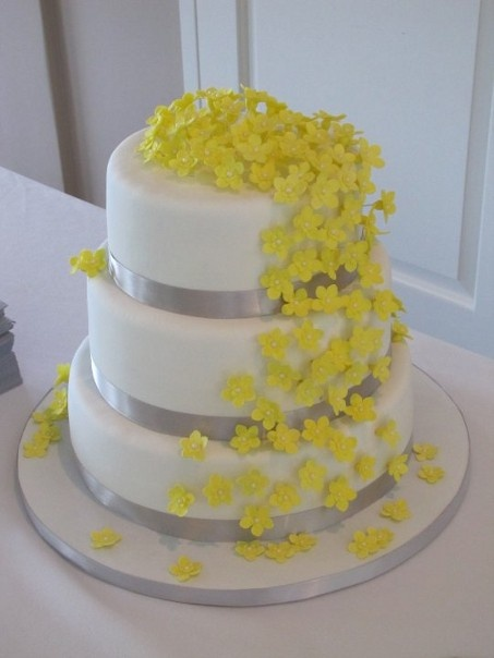 Yellow and gray Yellow and gray Ideas for my cake