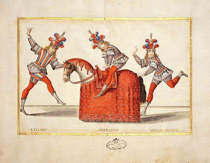 Balletto L'educazione di Achille, miniatura di Borgonio