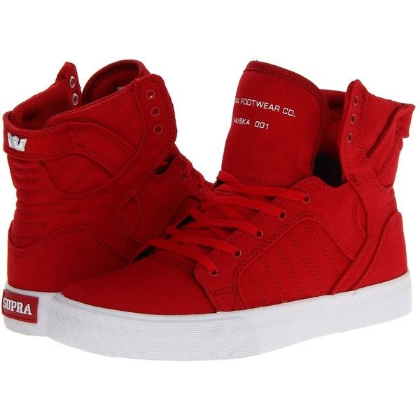 Supra Skytop (Little Kid/Big Kid) ($65) ❤ liked on Polyvore featuring shoes, sneakers, sapatos, supra, chaussures, sneakers & athletic shoes, strap sneakers, leather sneakers, ankle support shoes and leather trainers