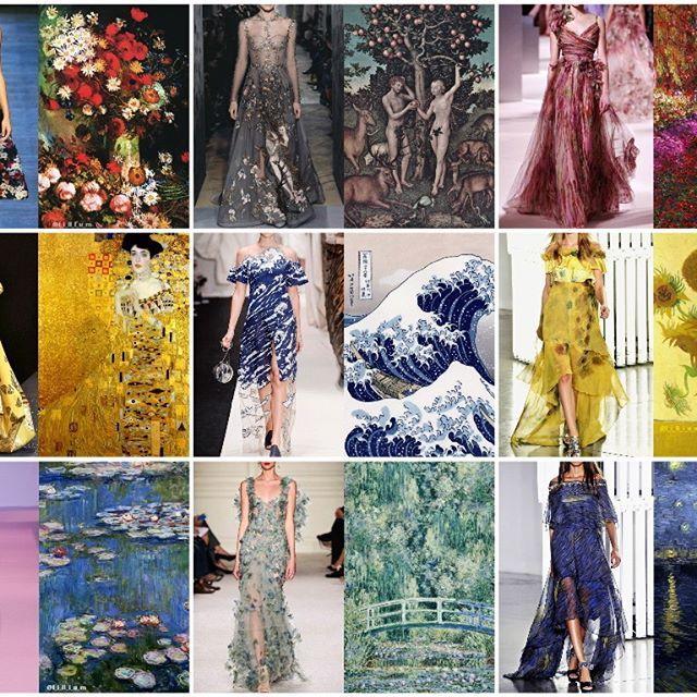 "Blog 🎨PHOTO & L' ART🎨 ""Шедевр + Шедевр = Шедевр в квадрате"" 😃⭐👀 Знаменитые шедевры мирового искусства являются прекрасным вдохновением для модных творений дизайнеров. // Famous masterpieces of world art are a great inspiration for fashion creations. Collages by @l_i_ll_i_u_m  My tag #LiliyaHudyakova ______________  #fashion #art #masterpiece #vangogh #Monet #flowers #couture #hautecouture #highfashion #Hokusai #instaart #inspiration #искусство #fashionblogger #gallery #fineart #painting…"